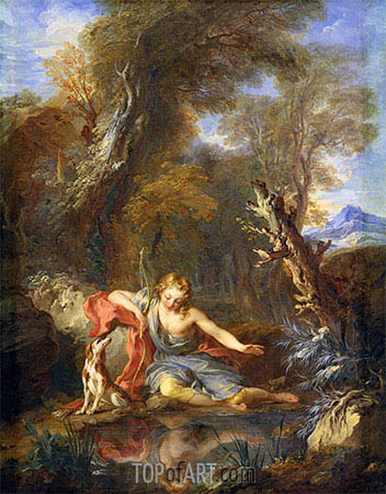 Narcissus, 1728 | Francois Lemoyne| Painting Reproduction