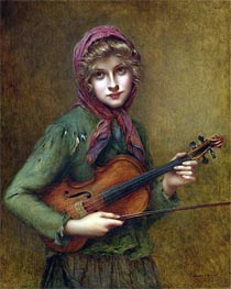 The Young Violin Player, Undated by Francois Martin-Kavel | Painting Reproduction