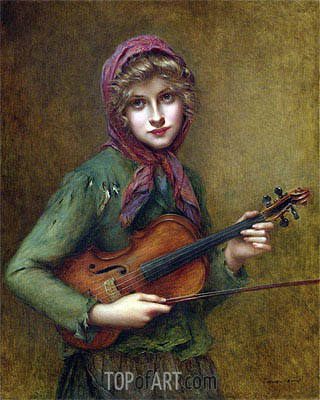 Francois Martin-Kavel | The Young Violin Player,