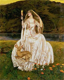 The Damsel of the Lake, Called Nimue the Enchantress, 1924 von Frank Cadogan Cowper | Gemälde-Reproduktion