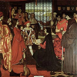Erasmus and Sir Thomas More Visit the Children of Henry VII at Greenwich in 1499, 1910 by Frank Cadogan Cowper | Painting Reproduction