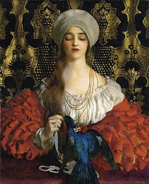 The Blue Bird, 1918 by Frank Cadogan Cowper | Painting Reproduction