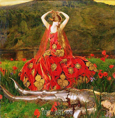 La Belle Dame Sans Merci, 1926 | Frank Cadogan Cowper | Painting Reproduction