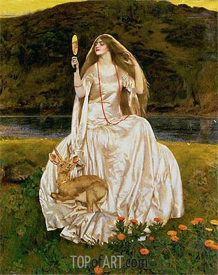 The Damsel of the Lake, Called Nimue the Enchantress, 1924 | Frank Cadogan Cowper| Painting Reproduction