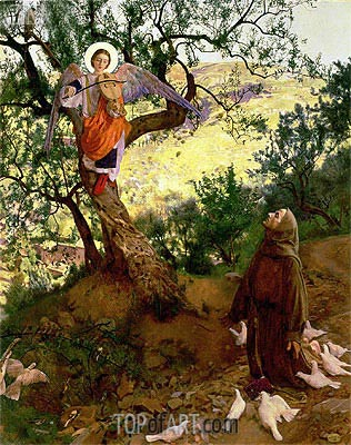 St. Francis of Assisi and the Heavenly Melody,  | Frank Cadogan Cowper | Painting Reproduction