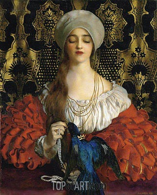 The Blue Bird, 1918 | Frank Cadogan Cowper | Painting Reproduction