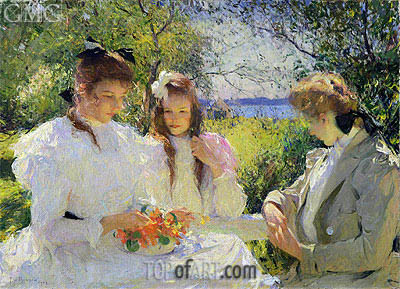 Portrait of my Daughters, 1907 | Frank Weston Benson | Painting Reproduction