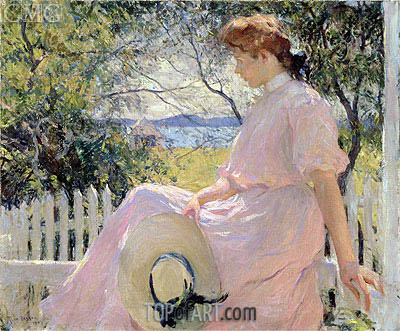 Eleanor, 1907 | Frank Weston Benson | Painting Reproduction