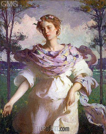Summer, 1890 | Frank Weston Benson | Painting Reproduction