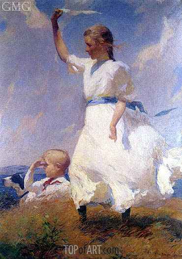 The Hilltop,  | Frank Weston Benson | Gemälde Reproduktion