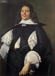 Portrait of a Man, c.1660 by Frans Hals | Painting Reproduction