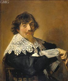 Portrait of a Man, Possibly Nicolaes Hasselaer | Frans Hals | Gemälde Reproduktion