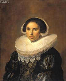 Portrait of a Woman (Sara Wolphaerts van Diemen), c.1630/35 by Frans Hals | Painting Reproduction