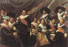 Banquet of the Officers of the St George Militia, 1627 by Frans Hals | Painting Reproduction