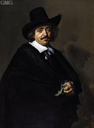 Portrait of a Man, c.1650/52 by Frans Hals | Painting Reproduction
