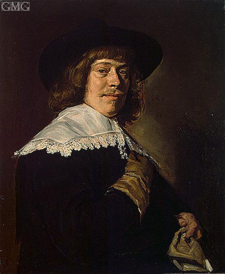 Portrait of a Young Man Holding a Glove, c.1650 | Frans Hals | Painting Reproduction
