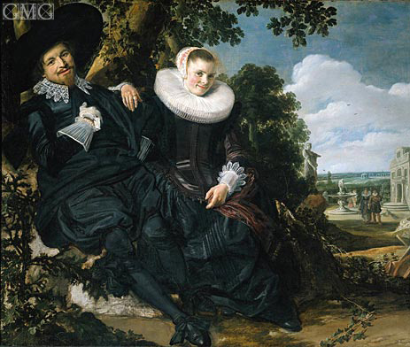 Married Couple in a Garden, c.1622 | Frans Hals | Gemälde Reproduktion