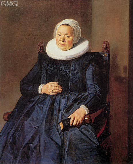 Portrait of a Woman, 1635 | Frans Hals | Gemälde Reproduktion