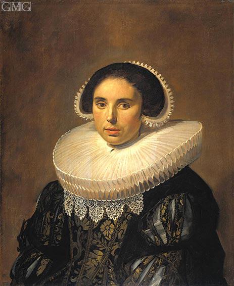 Frans Hals | Portrait of a Woman (Sara Wolphaerts van Diemen), c.1630/35