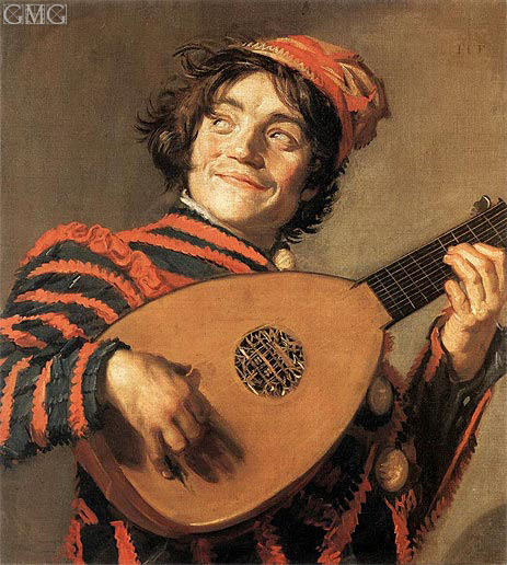 Buffoon Playing a Lute, c.1623 | Frans Hals | Painting Reproduction