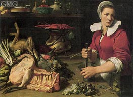 Cook with Food, c.1630/40 by Frans Snyders | Painting Reproduction