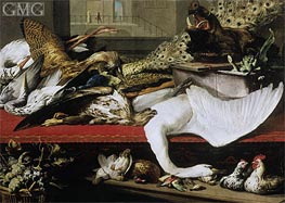 Still Life with Poultry and Venison, 1614 by Frans Snyders | Painting Reproduction