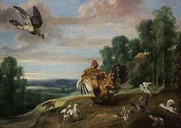 The Hawk and the Hen | Frans Snyders | Painting Reproduction