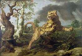 The Lion and the Mouse | Frans Snyders | Painting Reproduction
