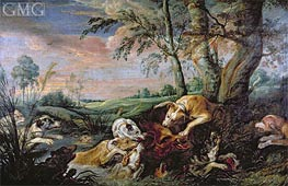 A Boar Hunt, Undated by Frans Snyders | Painting Reproduction