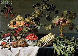 Still Life of Fruit in a Wicker Basket, Undated by Frans Snyders | Painting Reproduction