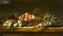 Still Life with Squirrel, Undated by Frans Snyders | Painting Reproduction