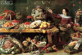 Still Life with Fruit and Vegetables, c.1625/35 by Frans Snyders | Painting Reproduction