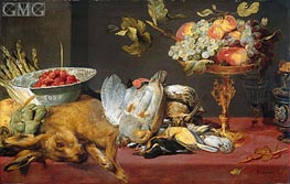 Still Life with Dead Game and Fruits, 1657 by Frans Snyders | Painting Reproduction