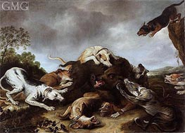 The Boar Hunt , c.1650 by Frans Snyders | Painting Reproduction