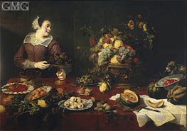 The Fruit Girl, c.1633 by Frans Snyders | Painting Reproduction