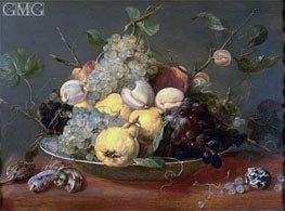 Still Life with Fruit in a Porcelain Bowl, Undated by Frans Snyders | Painting Reproduction