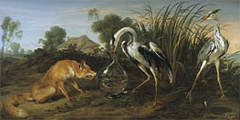 Sable of the Fox and the Heron, Undated by Frans Snyders | Painting Reproduction