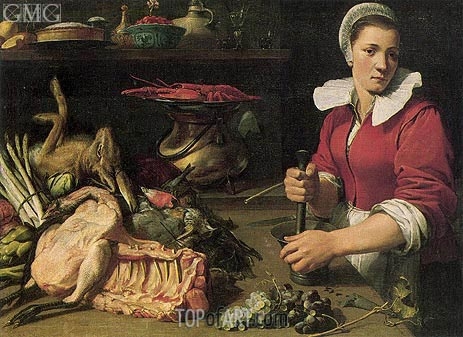 Frans Snyders | Cook with Food, c.1630/40