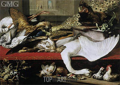 Still Life with Poultry and Venison, 1614 | Frans Snyders | Painting Reproduction
