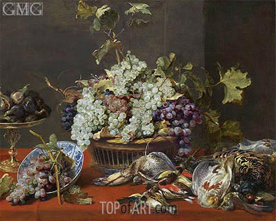 Still Life with Grapes and Game, c.1630 | Frans Snyders | Gemälde Reproduktion