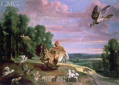 The Hawk and the Hen, Undated | Frans Snyders | Painting Reproduction