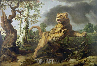 The Lion and the Mouse,  | Frans Snyders | Painting Reproduction