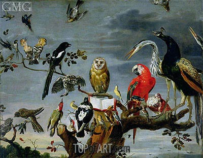 Concert of Birds,  | Frans Snyders | Painting Reproduction
