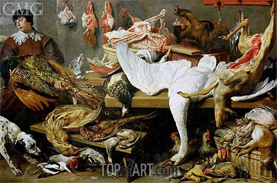 A Game Stall,  | Frans Snyders | Painting Reproduction