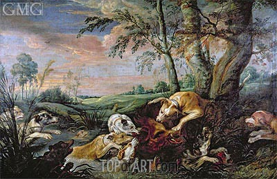 A Boar Hunt,  | Frans Snyders | Painting Reproduction
