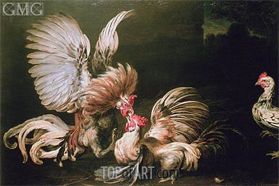 Fighting Cocks, Undated | Frans Snyders | Painting Reproduction