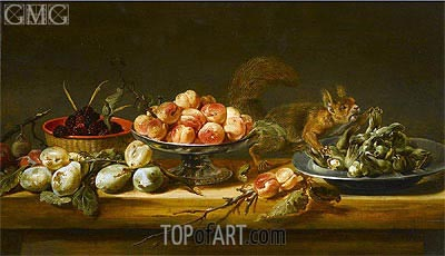 Still Life with Squirrel,  | Frans Snyders | Gemälde Reproduktion