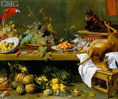 Still Life with Fruit, Vegetables and Dead Game, c.1635/37  | Frans Snyders | Painting Reproduction