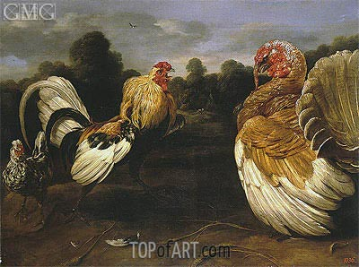 Frans Snyders | Fight of a Rooster and a Turkey Cock, c.1610