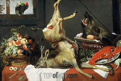 Still Life with Boar Head, c.1630/50  | Frans Snyders | Painting Reproduction